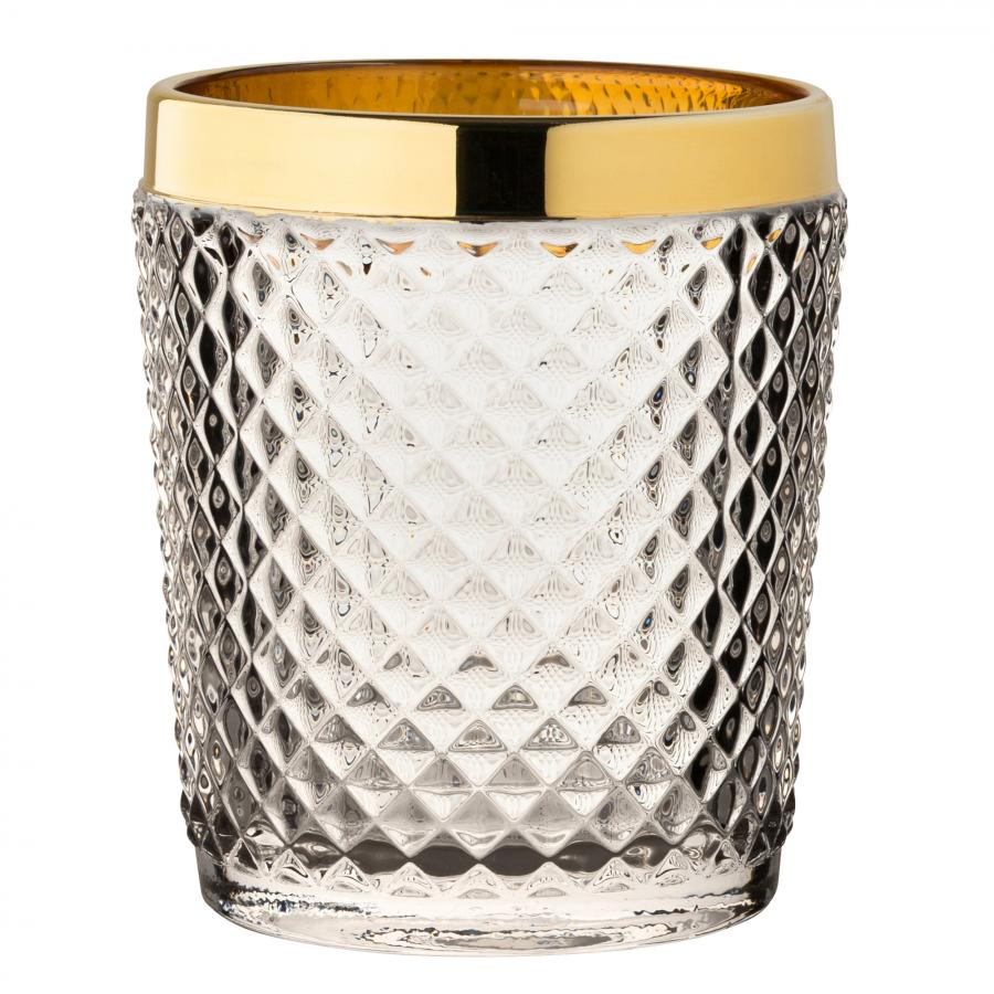 Gold Dante Double Vintage Tumblers 340ml/6ks